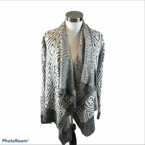 Boho A&F open Front Patterned Cardigan M/L